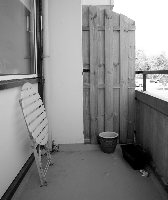 Balkon-Tristesse