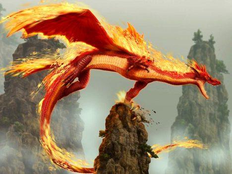 Fantasiewesen: Chinesischer Feuerdrachen