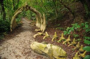 Drachen Fossilien-Attrappe in Singapur
