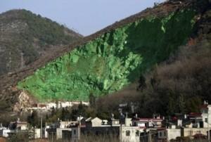 Grüner Berg in China