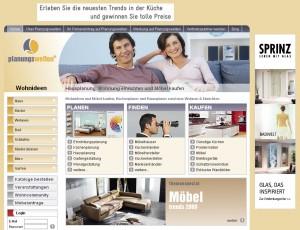Planungswelten - Screenshot der Webseite