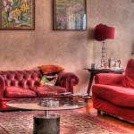 Wohnzimmer in Rot (Foto: Federico / otrocalpe)