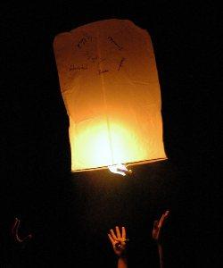 Himmels-Wunsch-Laterne – 01.01.2010, Neujahr