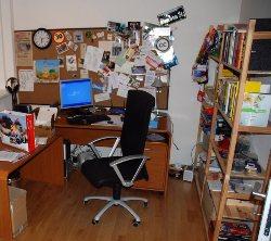 Simulierter umzug arbeitszimmer - Zimmer entrumpeln ...