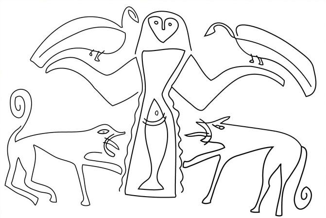 Zeichnung von Marko Pogacnik