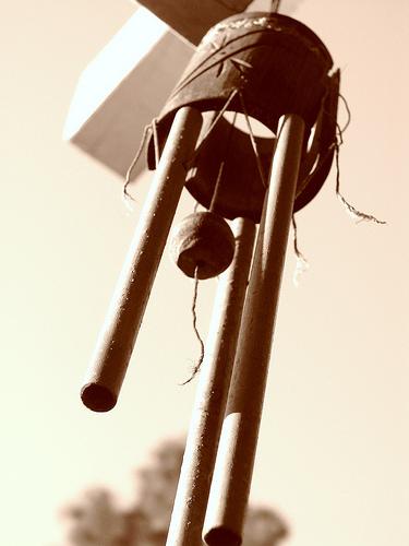 Windspiel im Freien