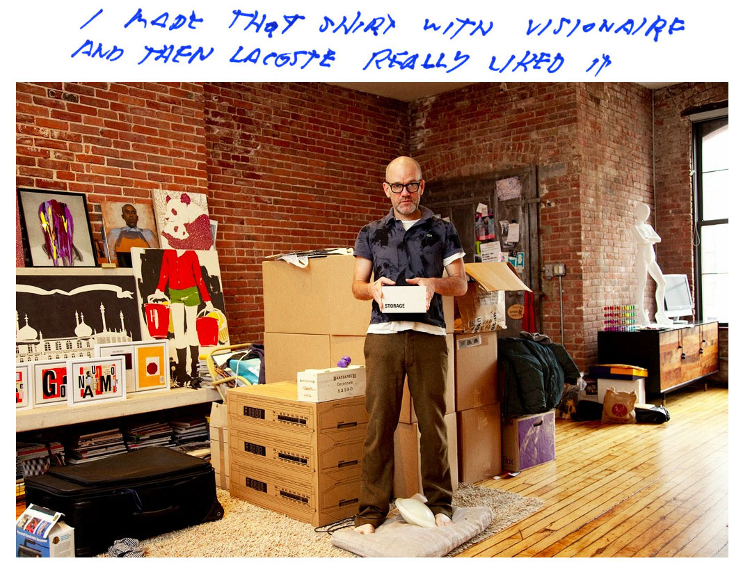 Michael Stipe in seinem New Yorker Appartment