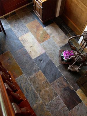 Afrikanische Natursteine: Schiefer-Fußboden von Köhler Floordesign