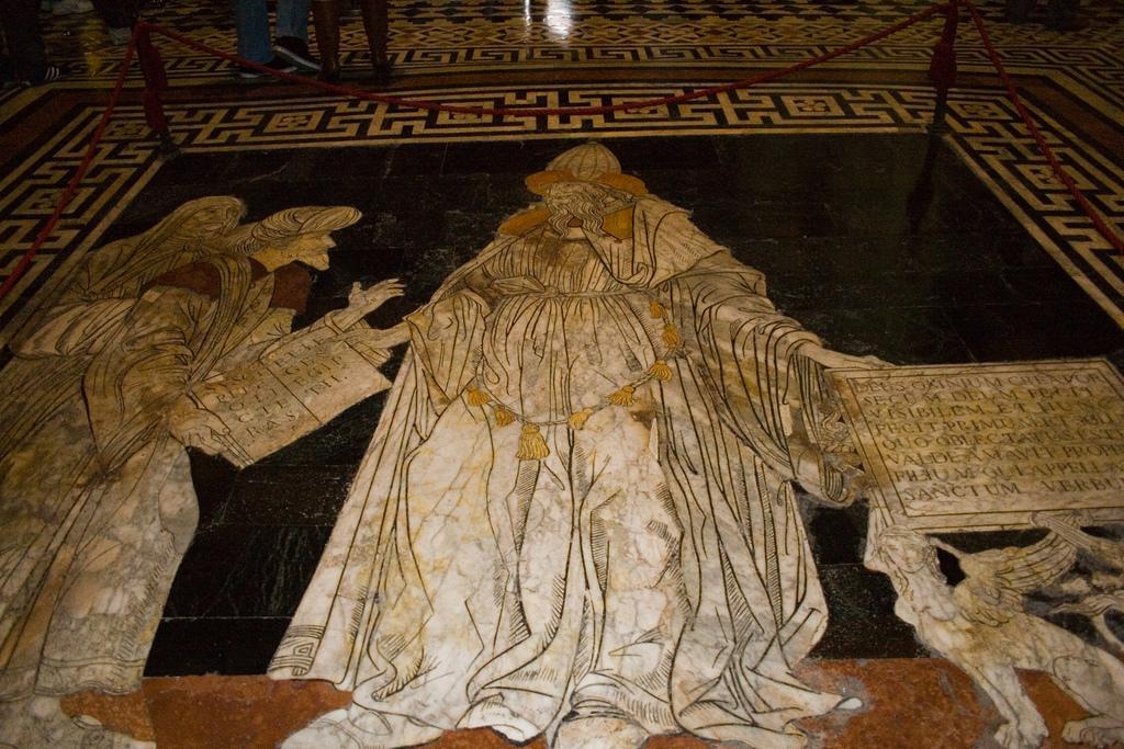 Hermes Trismegistos: Fußbodenmosaik im Dom von Siena