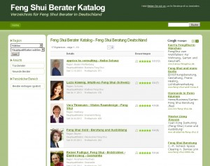 Feng Shui Beraterverzeichnis