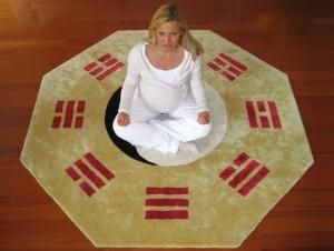 Tao-Teppich als Meditationsunterlage