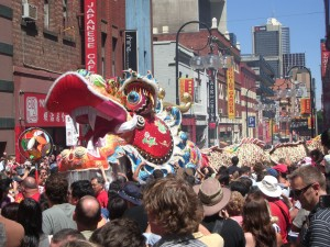 Drachenparade in Chinatown Melbourne