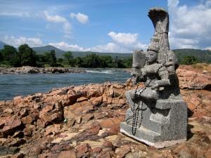 Kultische Verehrung einer Fluss-Gottheit