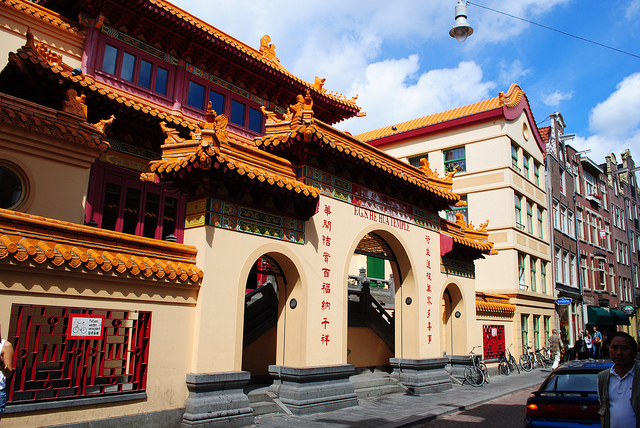 Der Fo-Guang-Shan-He-Hua-Tempel in Chinatown Amsterdam