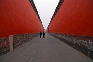 Peking: Schnurgerade Straße in der verbotenen Stadt