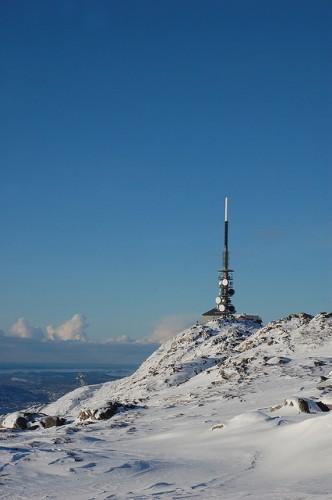 Elektrosmog ist heute fast überall: Mobilfunk Sendemast bei Bergen, Norwegen