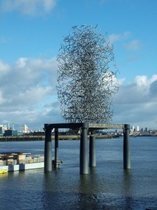 Quantum Cloud by Antony Gormely, Millenium Pier North Greenwich