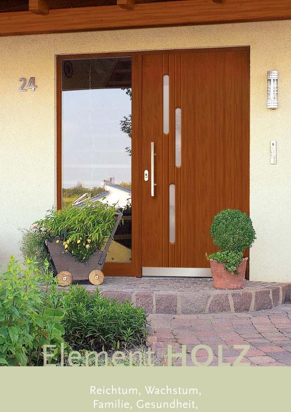Haustür: Element Holz