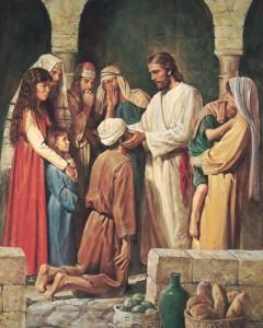 Jesus heilt einen Kranken