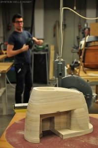 Holz-Espressomaschine im Bau