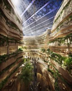 Masdar Hotel-Entwurf der deutsch-australischen Architektengruppe Laboratory for Visionary Architecture, LAVA
