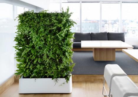 """""""Moving Hedge"""", ein pflanzlicher Raumteiler der schwedischen Firma Greenworks"""