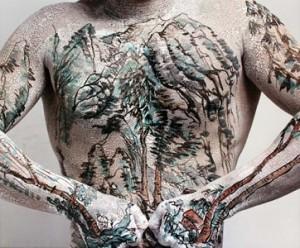 Chinesisches Landschafts-Tattoo, Huang Yan, 1999