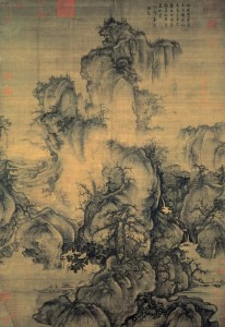 """Early Spring"", Shan Shui Gemälde: Tinte auf Seide, Guo Xi (1020–1090)"