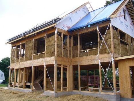 "Neubau eines ""Straw Bale House"" in Maryland, USA"