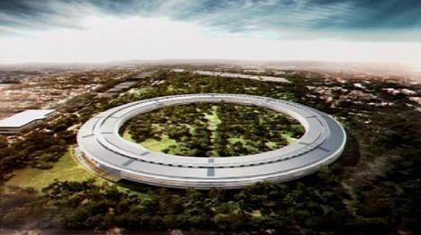 Geplantes Apple-Hauptquartier in Cupertino, Kalifornien