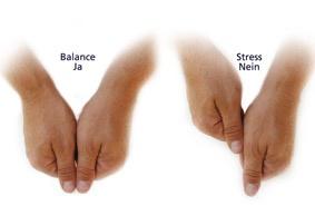 Ob ihr in Balance seid oder im Stress zeigt euch der Armlängentest