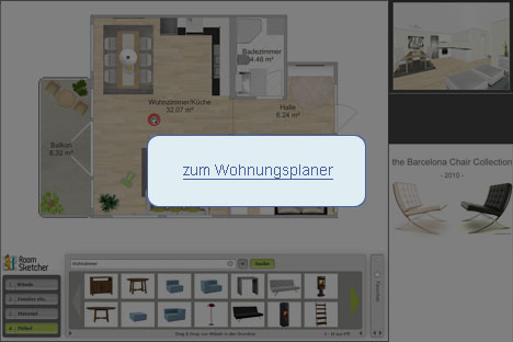 3d raumplaner kostenlos wohnung planen online. Black Bedroom Furniture Sets. Home Design Ideas