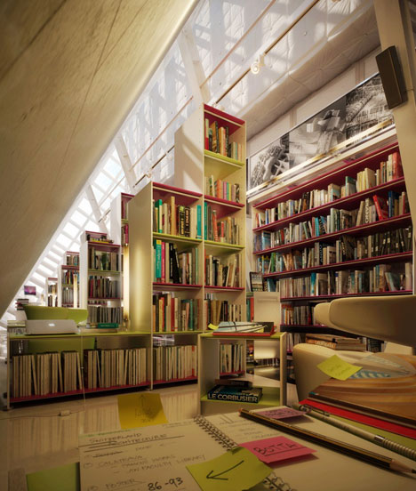Hausbibliothek-Idee für Menschen, die viel Platz, Bücherregale und Bücher haben