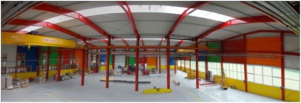 Industriehalle nach Feng Shui Farbkonzept gestaltet
