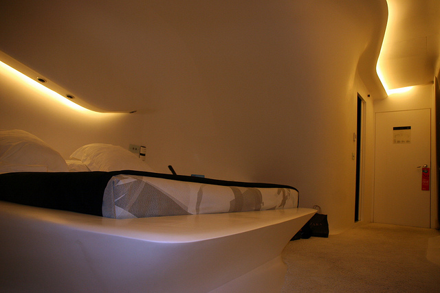 Schlafzimmer im Hotel Puerta America in Madrid, Foto: Matt Belton