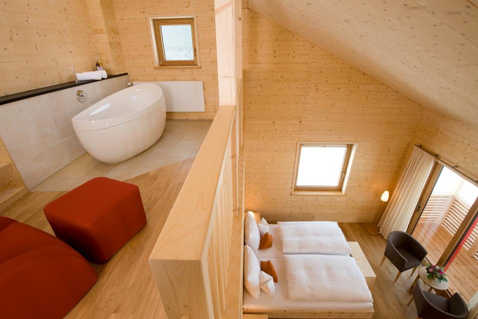 Mattlihüs: Bio-Hotel aus 100 Prozent Holz