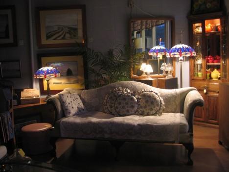 30er Jahre Vignette sorgt für echtes Vintage Flair im Wohnzimmer