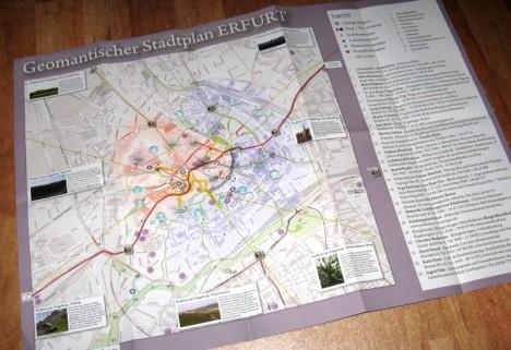 Kartenansicht des geomantischen Stadtplans von Erfurt