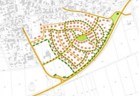 Zeigt die Form einer Lotusblüte: Der Bebauungsplan des neuen Wohngebiets Mertingen Süd