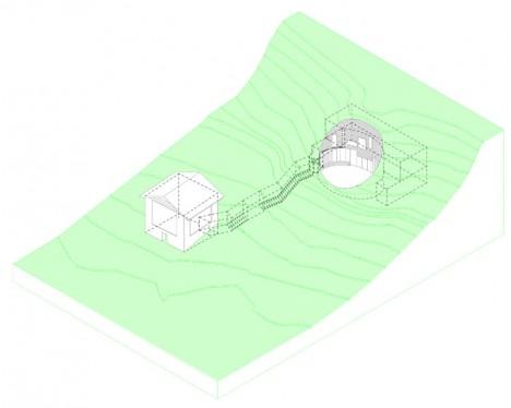 Der Verbindungstunnel zwischen Stall und Haus