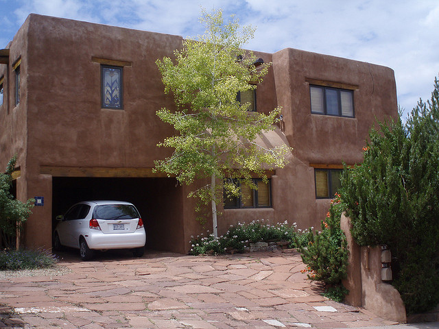 Haus im Pueblo-Stil in Santa Fe, New Mexico