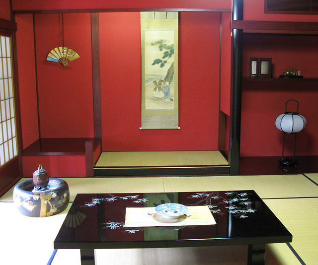 Moderner Japanischer Haushalt In Traditionellem Interior Design