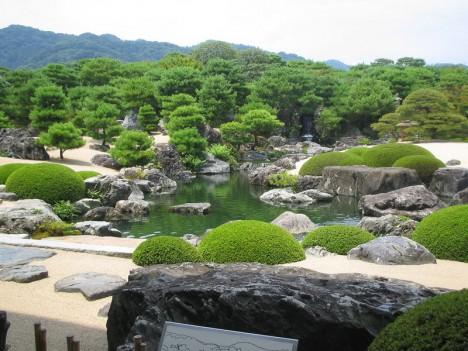Traditioneller Japangarten im Adachi Museum, Tottori, Japan