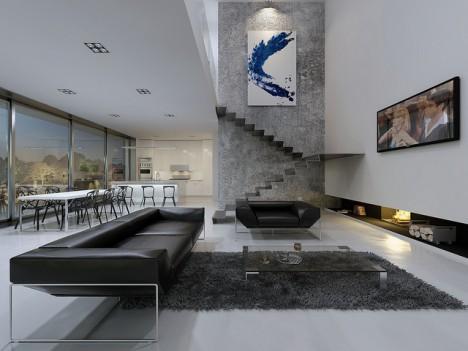 minimalistischer wohnstil reduktion klarheit viel raum. Black Bedroom Furniture Sets. Home Design Ideas