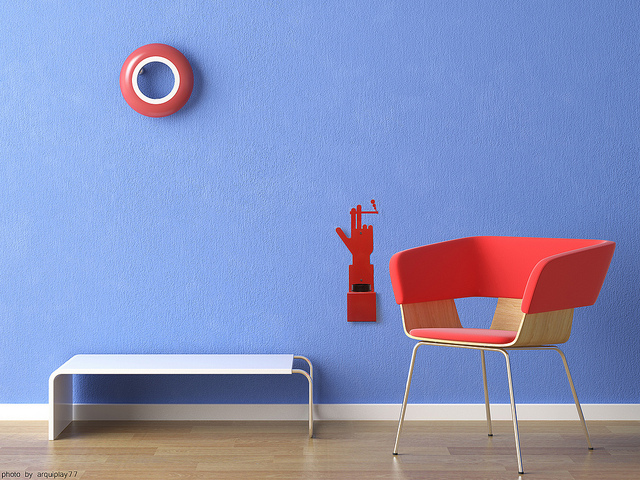 Extrem reduziertes Interior Design: Jedes Stück muss aus sich heraus wirken