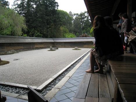 Zen-Garten im Ryōan-Ji Tempel, Kyoto, Japan