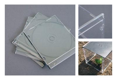 Mini gew chshaus aus alten cd h llen selber bauen - Feng shui gartengestaltung leicht gemacht ...