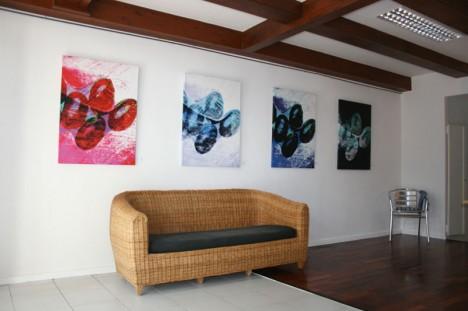 Symbiose: Feng Shui und Grafik Design, Collagetechnik / Foto auf Leinwand
