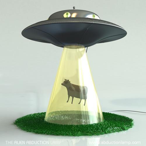 Kuh Entfuhrung Ufo Lampe Fur Sci Fi Leseratten