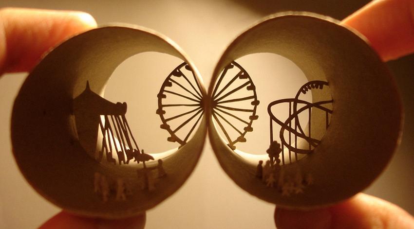 Miniaturwelten von Anastassia Elias in alten Toilettenpapier-Rollen - Bild 5